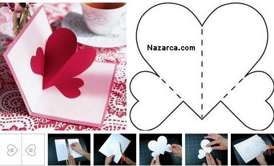 3D Kalpli Kart yapma performan proje ödevi için güzel bir kart yapımı Yeniyıl , Doğum günü ve Bayram gibi özel günlerde sevdiklerinize kendi yaptığınız 3 D görünümünde kapaklarını açtığında içinden…