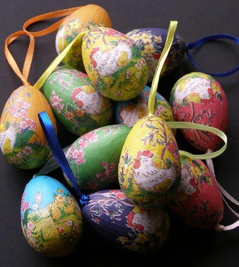 Jajka zawieszki na gałązki, ozdoba na Wielkanoc
