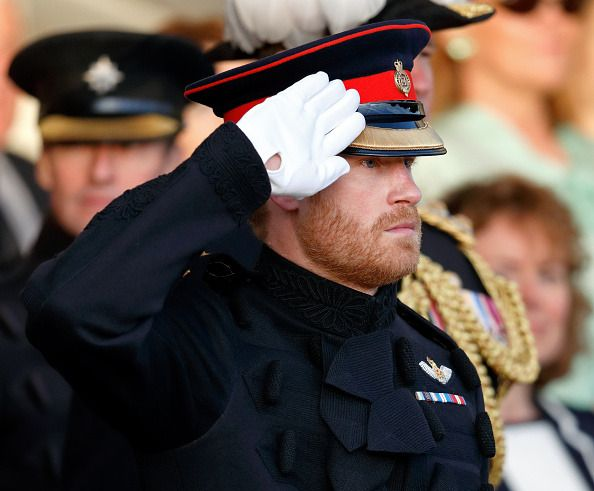 Prince Harry attended The Household Division's Beating Retreat at Horse Guards Parade on June 15, 2017.