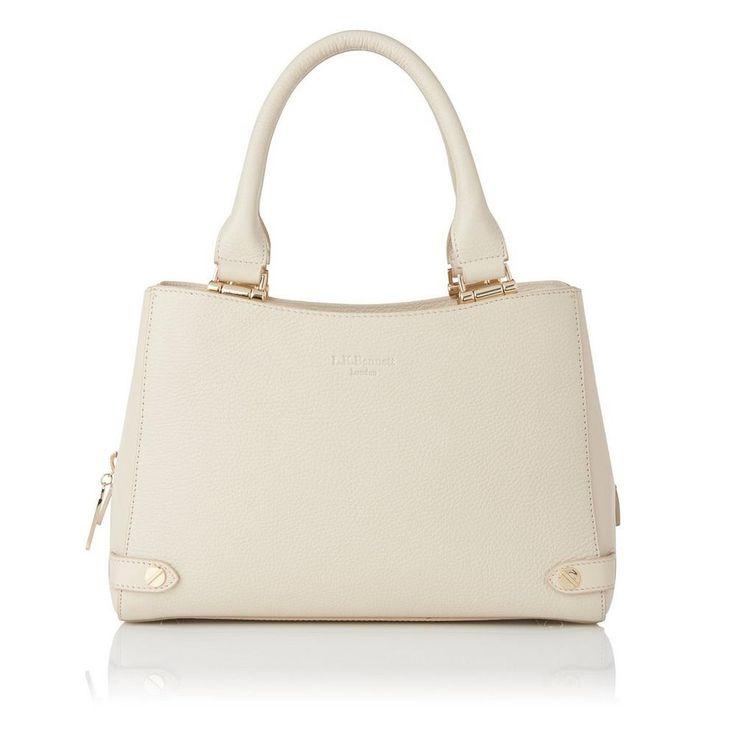 Izzy Cream Leather Tote   Handbags   L.K.Bennett