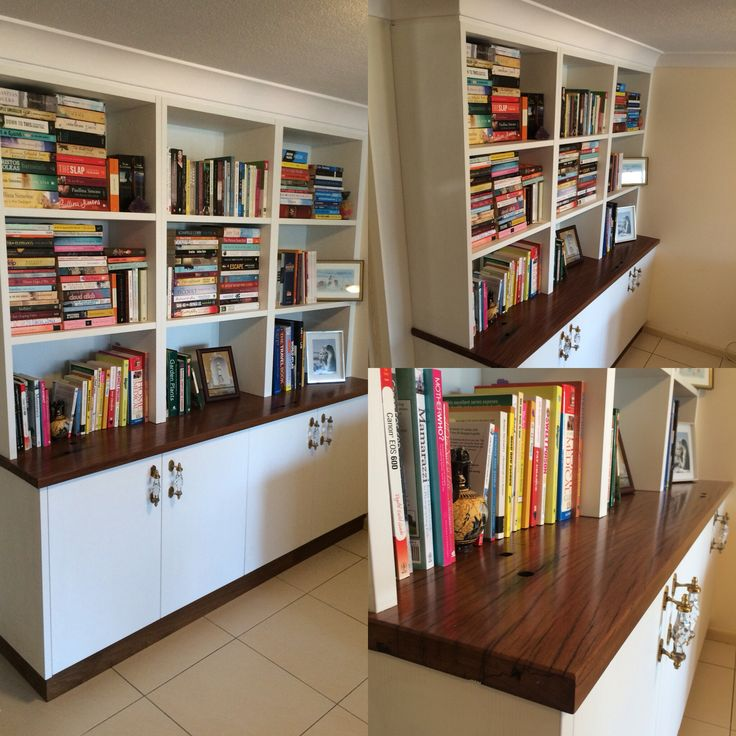 Bookcase made from recycled wharf timbers. Built by Concepts Created