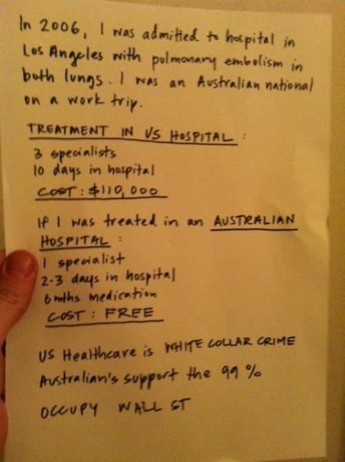How much would you pay for health care in the US vs. Australia..?