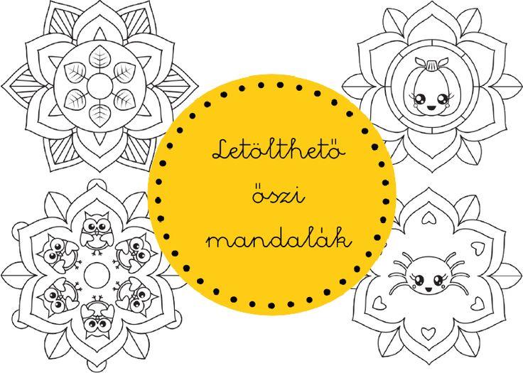 Nyomtatható őszi mandalák - gyerekeknek és neked :)