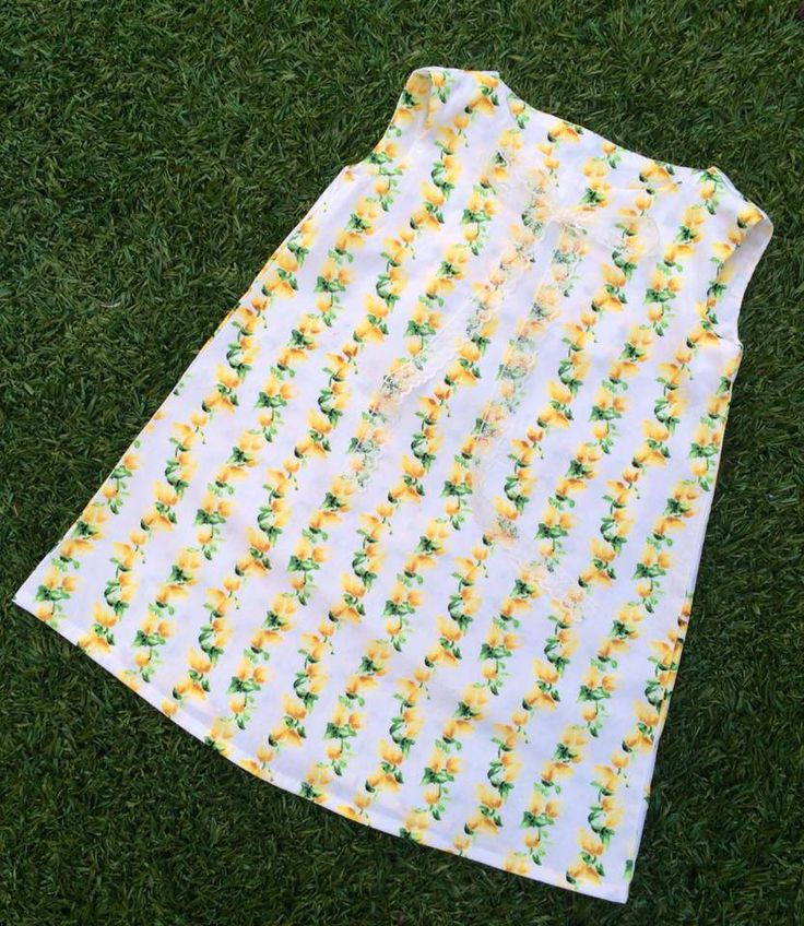 Handmade by Sewing & Alterations by Kimberley Yellow Roses Tunic Dress