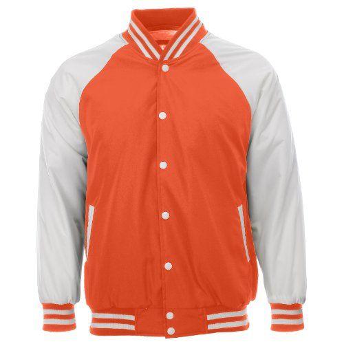 FLATSEVEN Herren Classic College Jacke Padded Winterjacke (VSJW02) Orange,  FLATSEVEN http://www.amazon.de/FLATSEVEN-Classic-College-Winterjacke-VSJW02/dp/B00ISHFYKI/