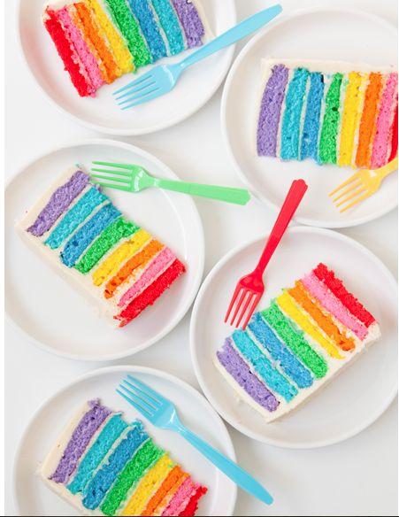 DIY: Rainbow Cake | The Blushing Bride
