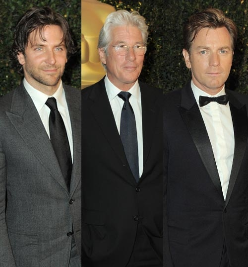 Bradley Cooper, Richard Gere y Ewan McGregor en la entrega de los Oscar honoríficos #actores #famosos #actors #people #celebrities