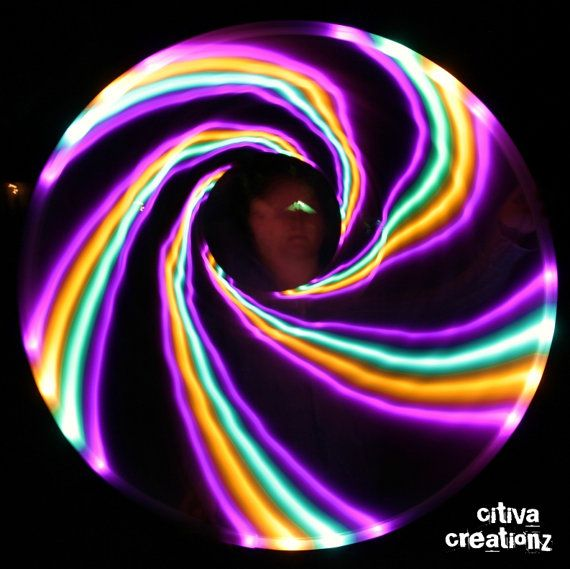 Mellow Melt LED Hula Hoop by CitivaCreationz on Etsy