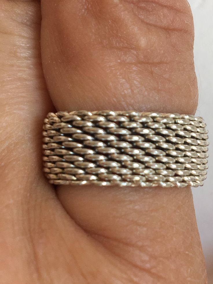 A personal favorite from my Etsy shop https://www.etsy.com/ca/listing/549234845/silver-mesh-ring