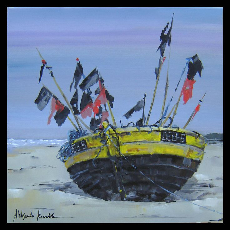 fishboat on the beach in Dębki Poland II by szklanytygrys on deviantART
