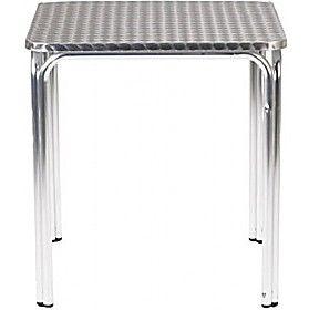 Aluminium Bistro Square Stacking Table £75 - Bistro Furniture