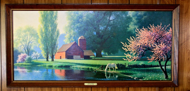 """Paul Detlefsen. """"Spring Morn"""" 1960s Lithograph..got this same one for $20 at a yard sale."""
