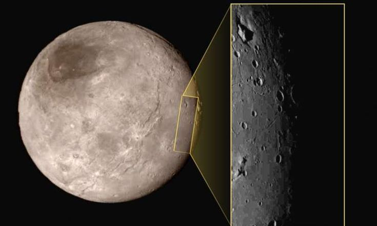 Mysterious mountain revealed in first close-up of Pluto's moon Charon