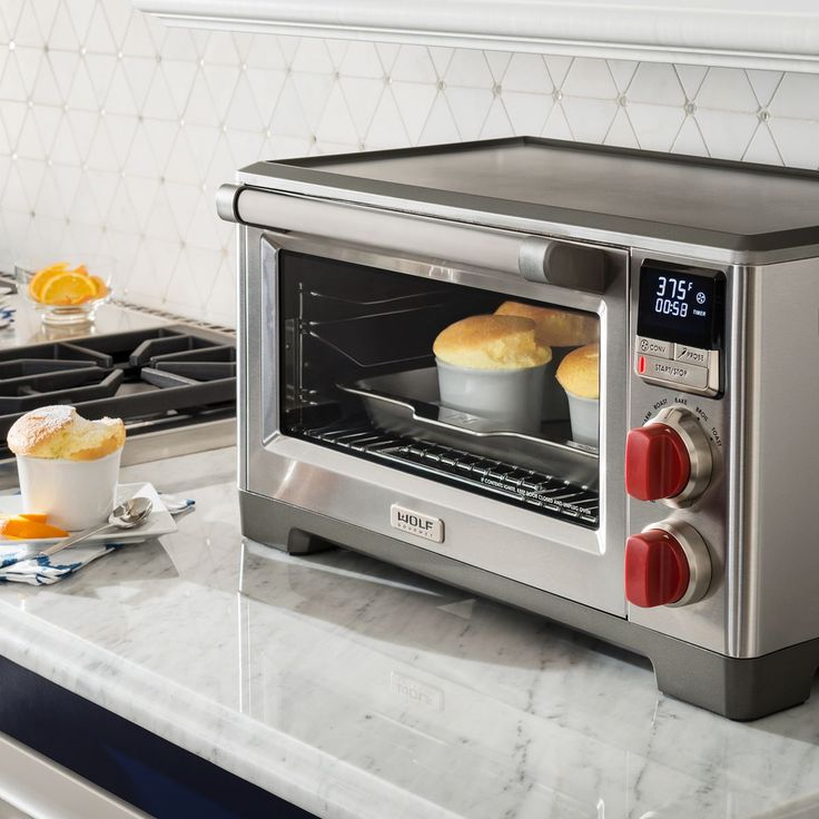 Wolf Gourmet Countertop Convection Oven with 6 cooking modes and temperature probe