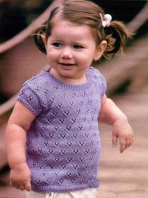 Лиловая детская футболка