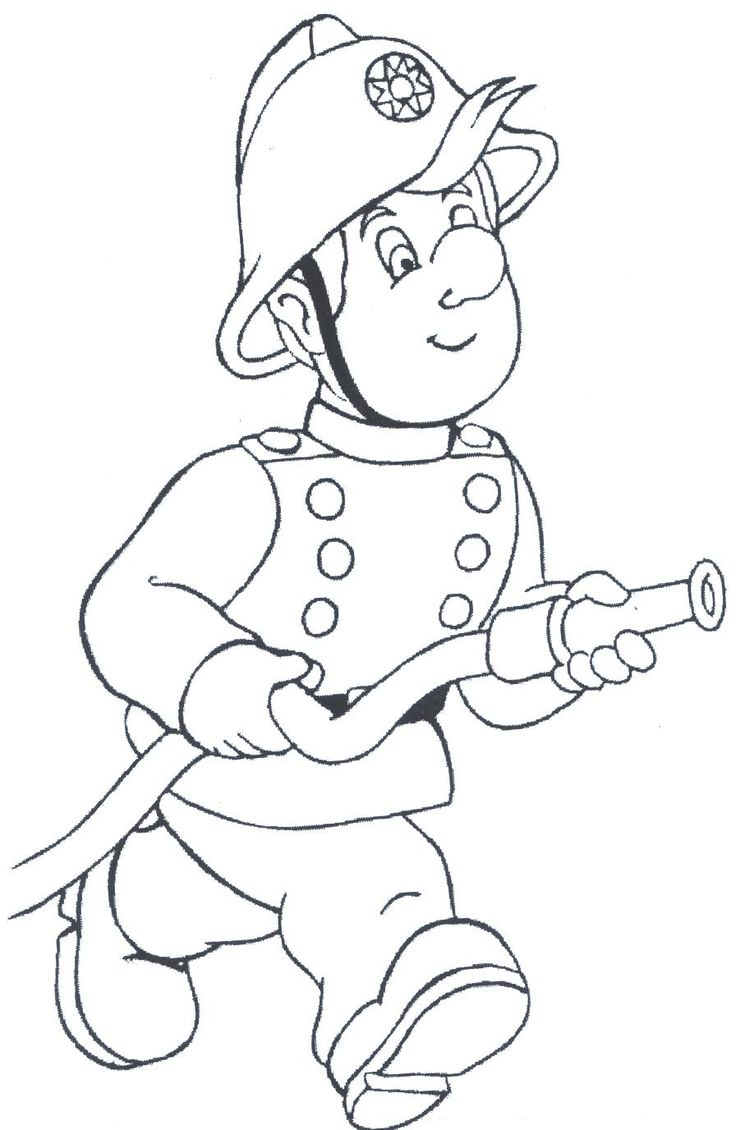 firefighter coloring pages - Free Large Images : Coloring Pages : Pinterest : Firefighter ...