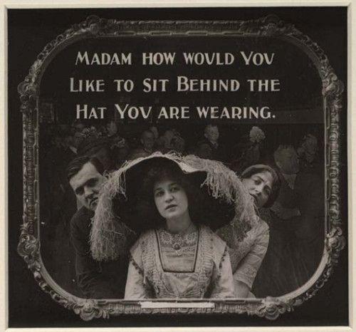 """""""...pre-movie PSA, shown in US cinemas c.1910 (via Library of Congress)"""""""