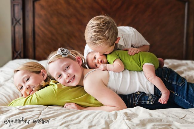 Sibling Shot with Newborn | 10 Tips for Photographing Your Baby - Click it Up a Notch