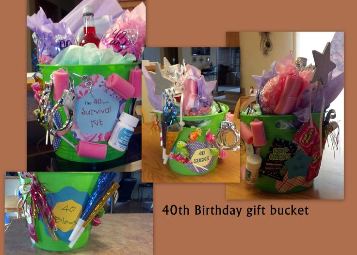 40th Birthday Gift Basket 17 Best Images About Ideas On Pinterest