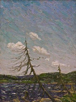 Tom Thomson - Northern Lake 10 x 7 Oil on panel