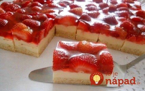 Fantastický jahodovo-smotanový koláč