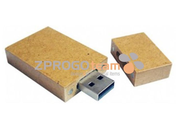 NEW: Promotional USB flash drive from recycled paper. ECO practical gift that captivates and delights.