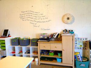 Montessori Homeschool Classroom for Preschool Age - DIY on a budget