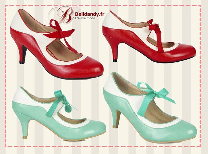 Chaussures femme annee 50 - Chaussures annees 50 femme ...