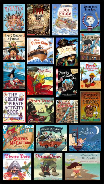 """Pirate activities: Great books for your pirate theme or """"Talk Like a Pirate day""""."""
