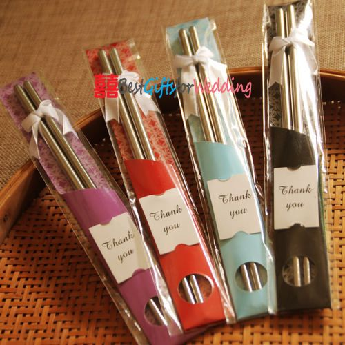 wedding favors - Korean Stainless Steel Wedding Chopsticks#DBBridalStyle