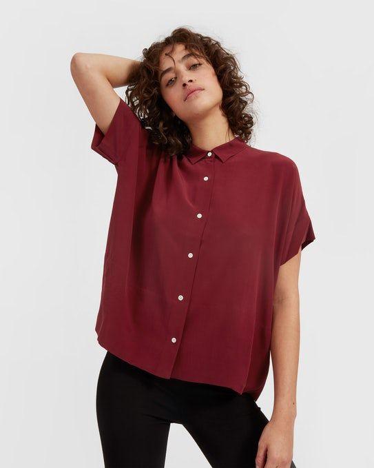 The Silk Short-Sleeve Square Shirt - Everlane