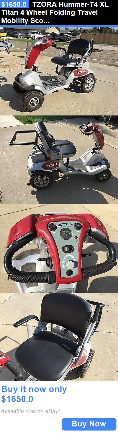 Mobility Scooters: Tzora Hummer-T4 Xl Titan 4 Wheel Folding Travel Mobility Scooter Foldable BUY IT NOW ONLY: $1650.0