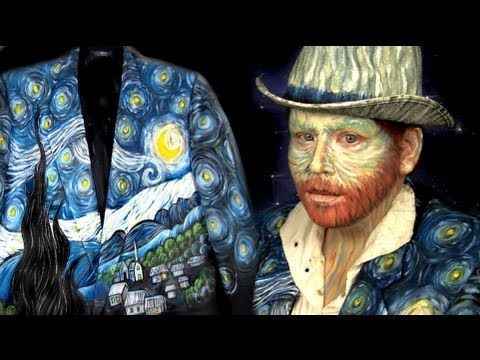 DIY - Vincent Van Gogh Costume & Starry Night Jacket.  Mind BLOWN.