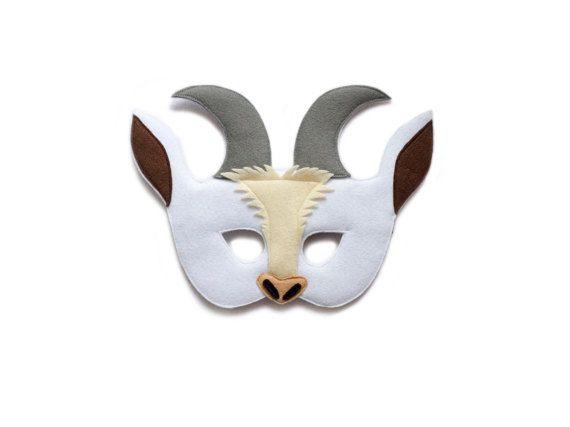 CHÈVRE feutre Masque Masque animaux de la ferme par pokiplays - 15€