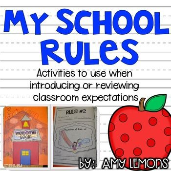 My School Rules! {Activities for introducing classroom rules} Looking for your students to really grasp those classroom rules? These activities will help jumpstart your school year, and even provide reinforcement throughout the year!