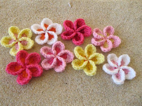 Hawaiian Plumeria Flower Crochet Patterns - Patterns Kid