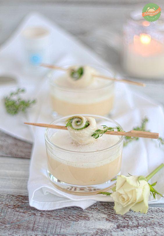 Sellerie-Apfel-Suppe mit Scholle n-Trüffel-Röllchen || puhlskitchen