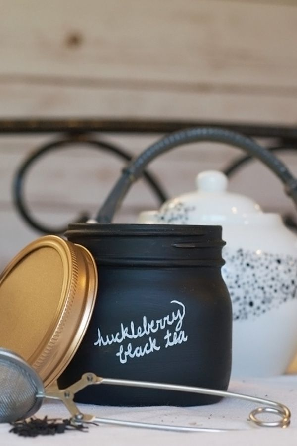 How to make a loose leaf tea jar | Create a DIY air-tight jar for your tea! Check out this easy tutorial!