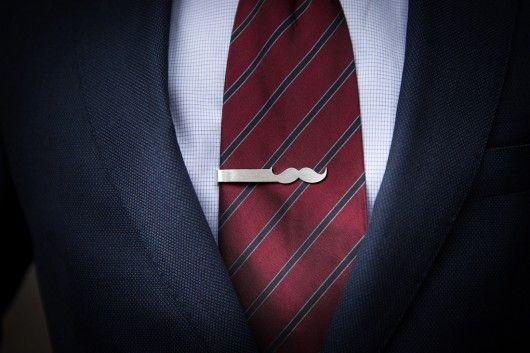 Personalizowana srebrna spinka do krawata WĄS