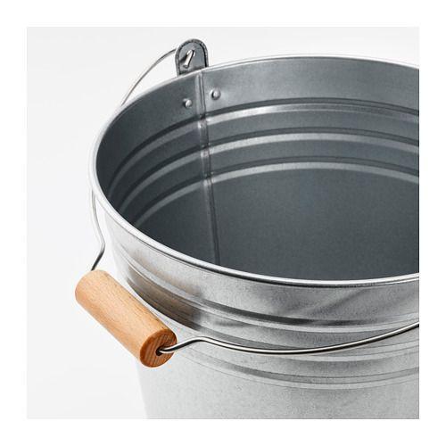 SOCKER Bucket/plant pot, indoor/outdoor, galvanized