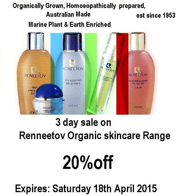 3 day  sale off Reneetov skincare