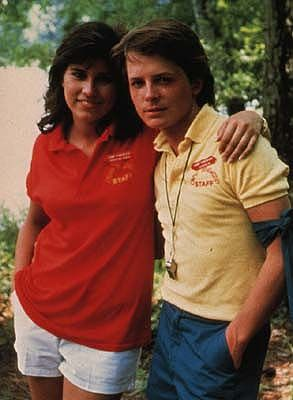 Nancy McKeon with Michael J. Fox - Sitcoms Online Photo Galleries