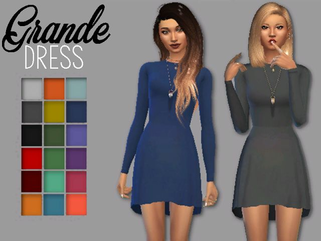 Sims 4 CC's - The Best: GRANDE Dress by Chris Sims