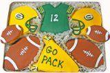 Green Bay Packer Football Hand Decorated Sugar Cookies