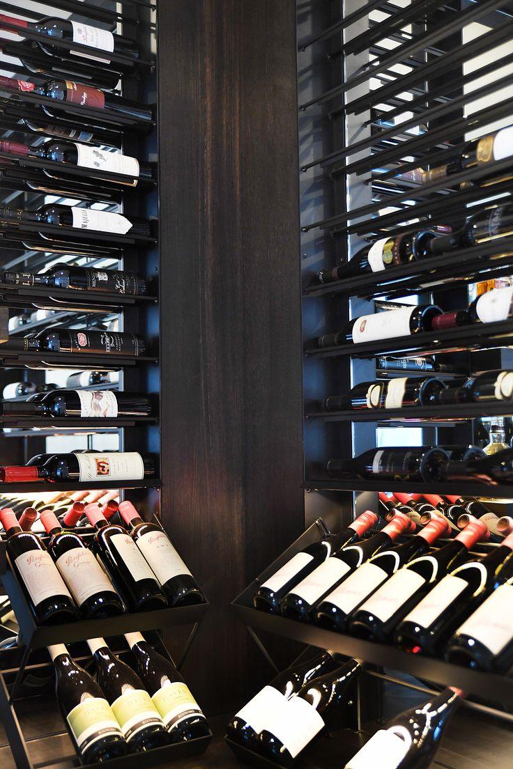 South Yarra Penthouse glass wine room  Vine & Vault Custom Cellars