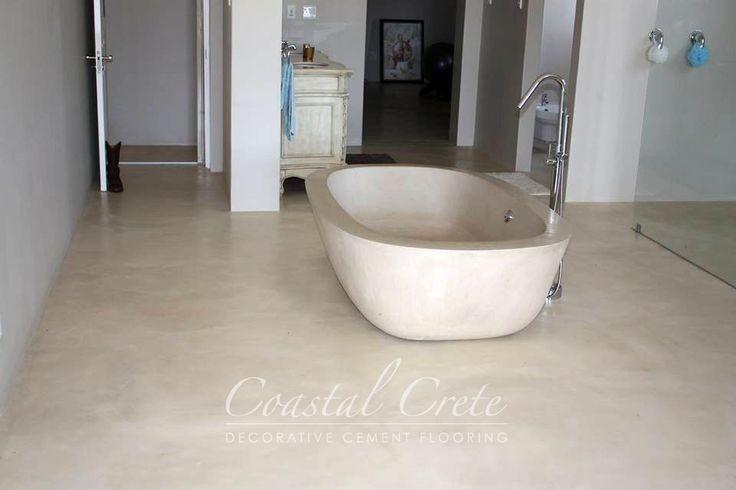 Coastal Crete Flooring | Cream Colour Screed Flooring | Smooth | Seamless