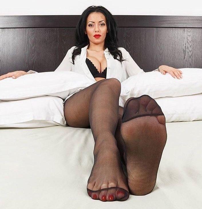Sexy Legs Black Stockings Feet
