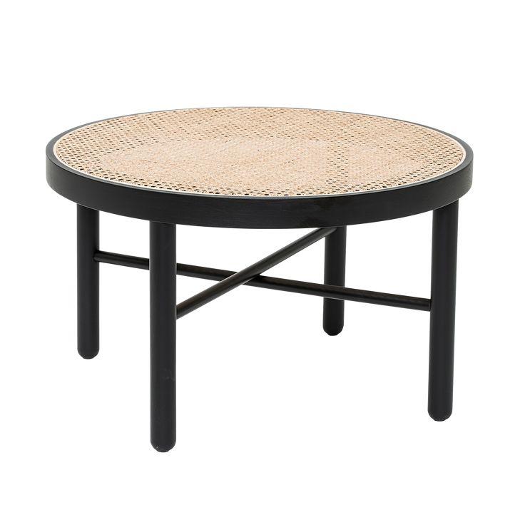 Retro bord trä m skiva i nät dia70, höjd 40 cm. Monterad.