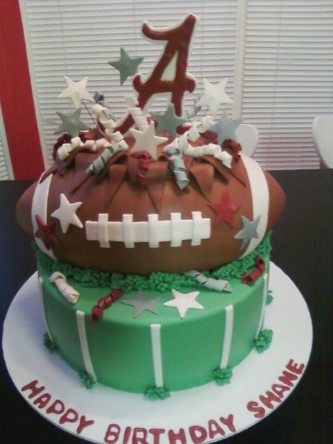 Alabama exploding football cake
