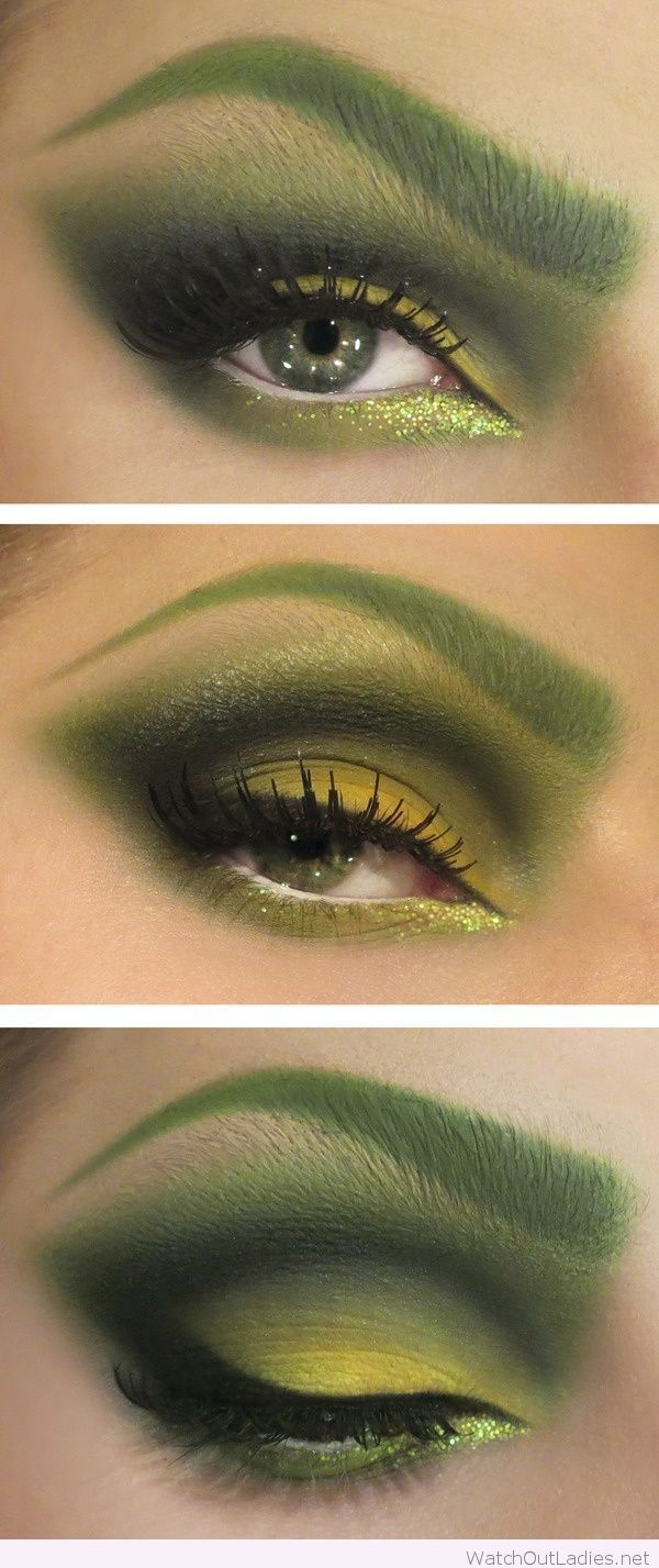 Poison Ivy Halloween makeup idea